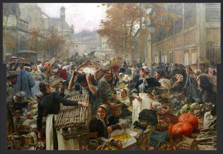 Léon Lhermitte, Les Halles (1895)