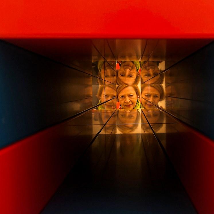 Through David Zwirner's sculpture - Photo by Rick Meghiddo
