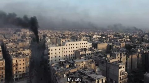 Aleppo under bombardment