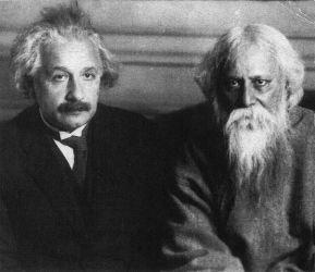 Albert Einstein, 1879-1955, with Tagore