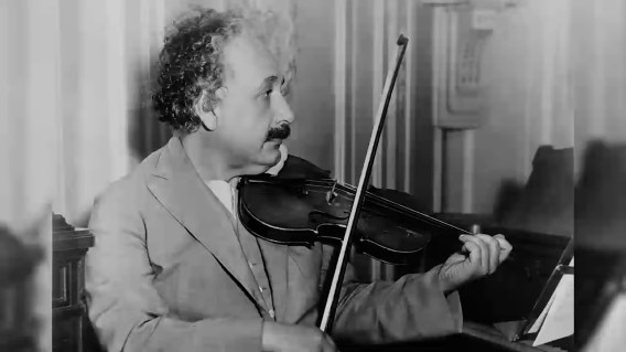 Einstein playing Mozart