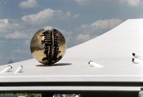 Italian Pavilion. Sculptor: Arnaldo Pomodoro.