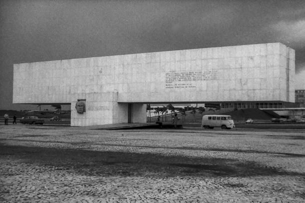 Brasilia - President Kubitschek Monument, 1960. Architect: Oscar Niemeyer - © R&R Meghiddo 1967 – All Rights Reserved