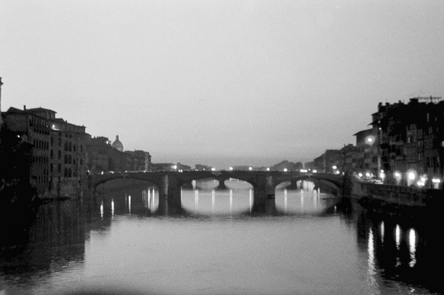 Florence, Arno River - © R&R Meghiddo 1967 – All Rights Reserved