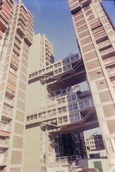 Buenos Aires - Rioja Housing Complex. Architect:Flora Manteola, Javier Sanchez Gomez, Josefina Santos, Justo Solsona, Carlos Sallaberry, and Rafael Vinoly, 1969-73.