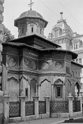 Bucharest - Stavropoleos Monastery Church, 1724 - © R&R Meghiddo 1967 – All Rights Reserved