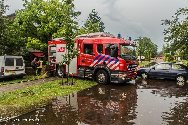 2014-07-20 Wateroverlast Onstwedde