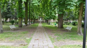 Nanterre, le jardin de l'hôpital