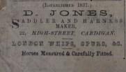 D. Jones saddler 1866