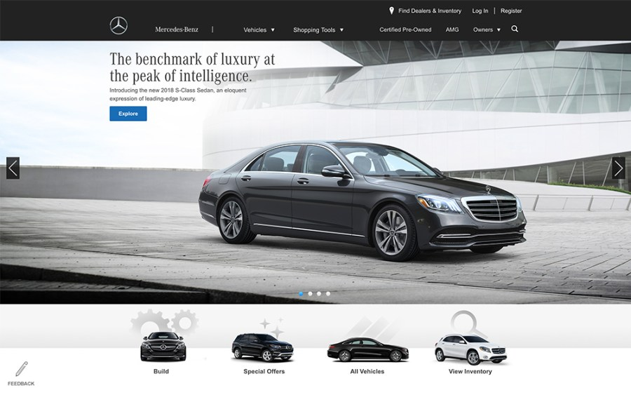 Mercedes Benz - Awesome Websites powered by WordPress