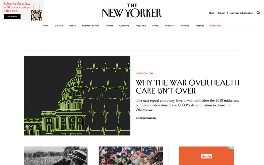 The New Yorker - Awesome Websites powered by WordPress