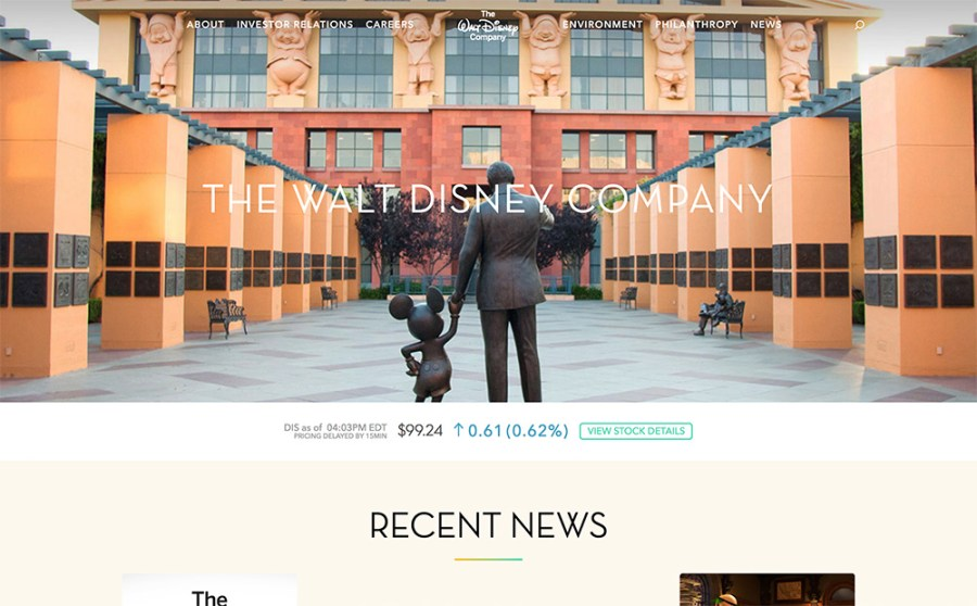 Walt Disney - Awesome Websites powered by WordPress