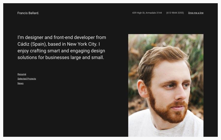 Ballard Architecture Resume WordPress Theme