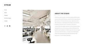 Stockholm Architecture Resume WordPress Theme