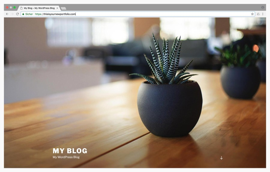 Create your online Portfolio with WordPress