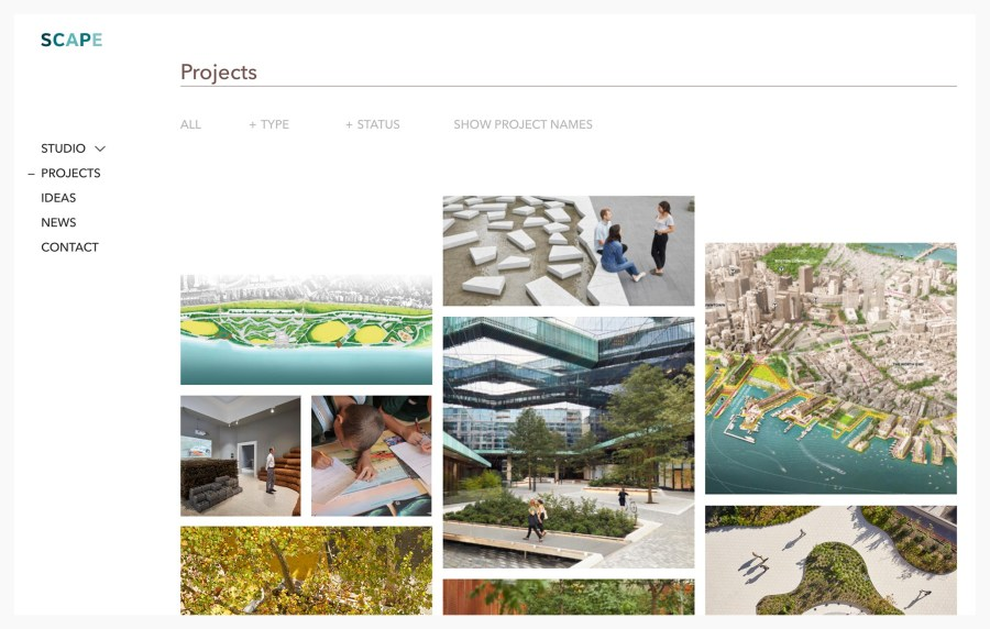 Scape Studio - Best Architecture Website of 2019