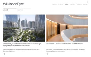 Wilkinson Eyre Architects - Best Architecture Website of 2019