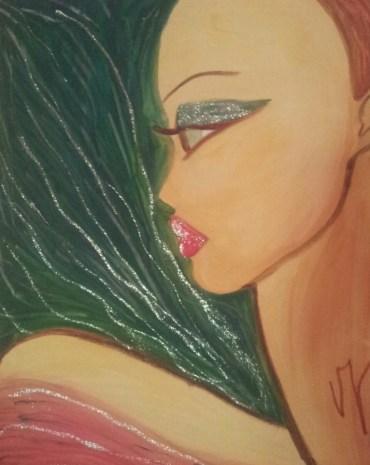 L'Amazzone (prima realizzazione della serie) di Valentina Giannicchi Olio su tela, 50x70 cm Collezione Privata