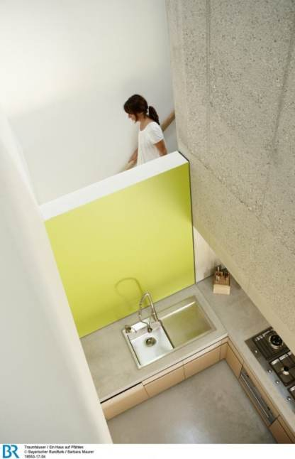 Vertikal, horizontal, diagonal: Die Struktur schafft verschiedenste Sichtachsen.