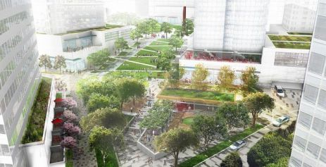 Montgomery Square - Aerial View