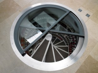 Spiral staircase for the wine cellar