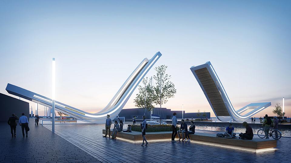 Dutch  Latvian team to design Estonia's first movable pedestrian bridge in Tallinn