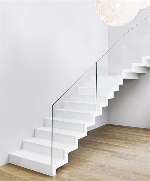 Zig Zag Stair In Corian Siller Stairs Archinect   Zig Zag Staircase Design   Stringer   Dual Staircase   Chain Staircase   Sawtooth   Steel