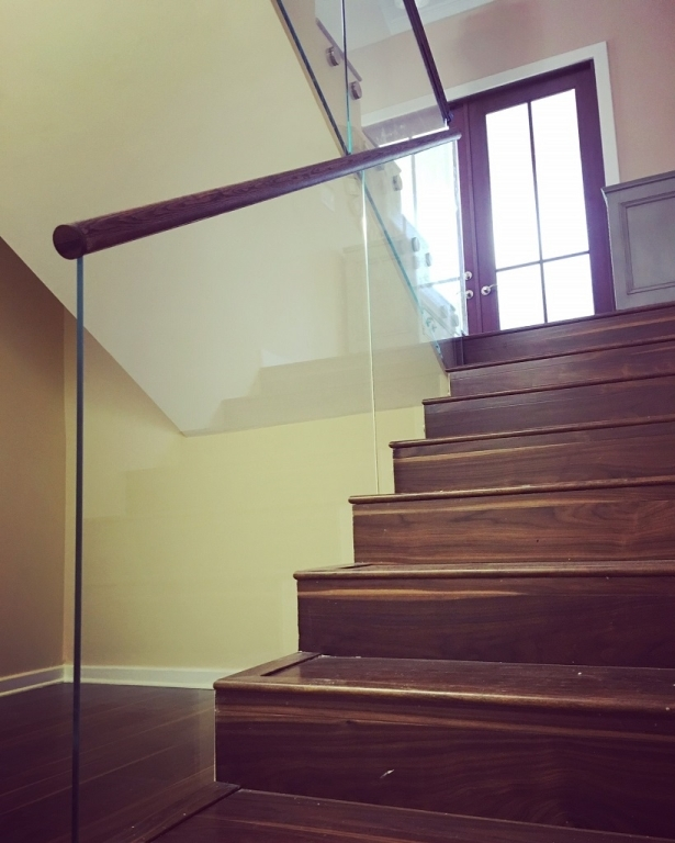 Glass Railings Second Floor Guardrail Bella Stairs Llc | Second Floor Stairs Design | Floor Plan | Hall | 1St Floor Veranda | Outside | Most Beautiful