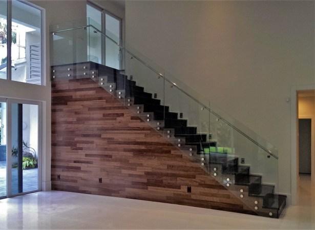 Glass Railings Stainless Steel Handrail Bella Stairs Llc   Clear Handrails For Stairs   Steel   Clear Acrylic   Wood   Riser   Metal