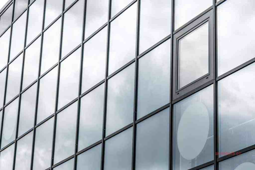 Office interior design double pane windows