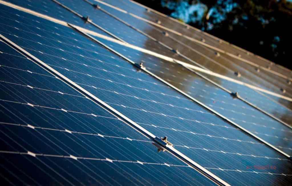 Office interior design solar panels