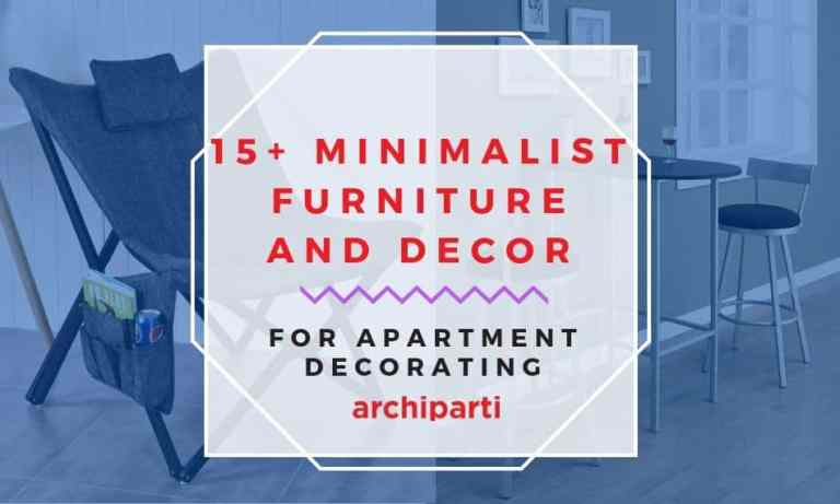 15+ Must Haves Minimalist Furniture and Cute Decor for Apartment Decorating in 2021