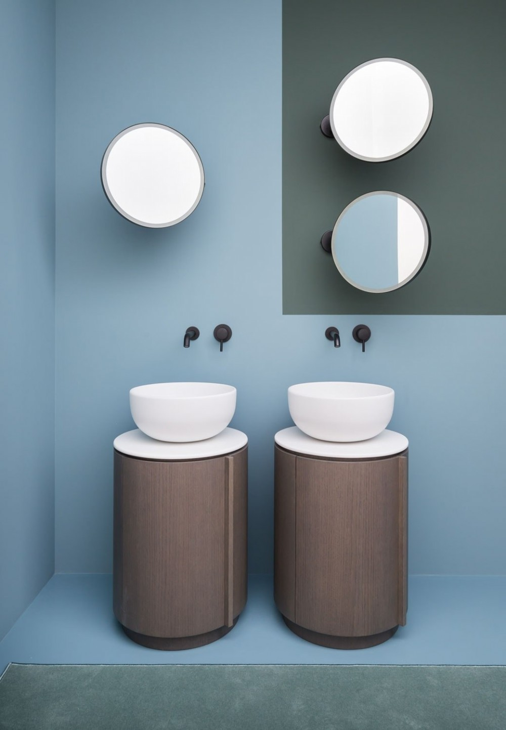 round cylindrical bathroom vanities