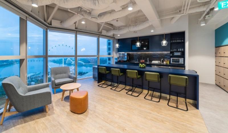 希爾頓新加坡辦公空間,體驗主導的工作空間設計,將好客元素編織到傳統辦公空間之中。