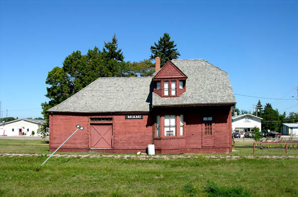1889  Former Railway Station Miami Manitoba  Architecture of