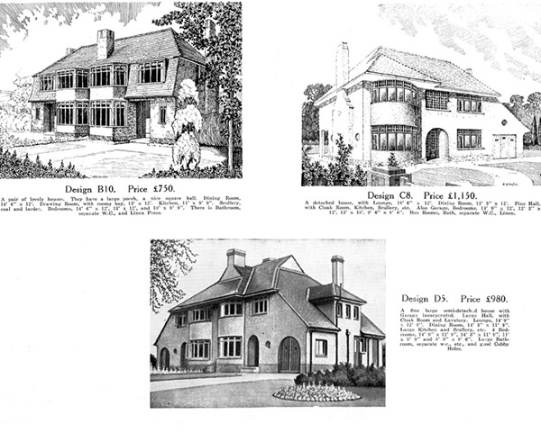 Original Pages From Irish Homes Brochure Circa 1936 Of House Designs Available To Purchase In The Mount Merrion Development