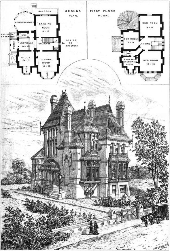 From The Architect November 13 1875This Cottage Residence Has Been Recently Erected Upon A Site In Church Road Upper Norwood For Mr James Franks