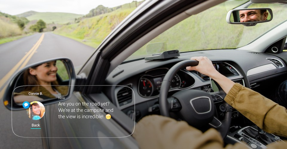 Navdy HUD driving system.