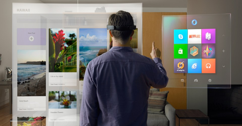 Augmented reality through Microsoft Hololens