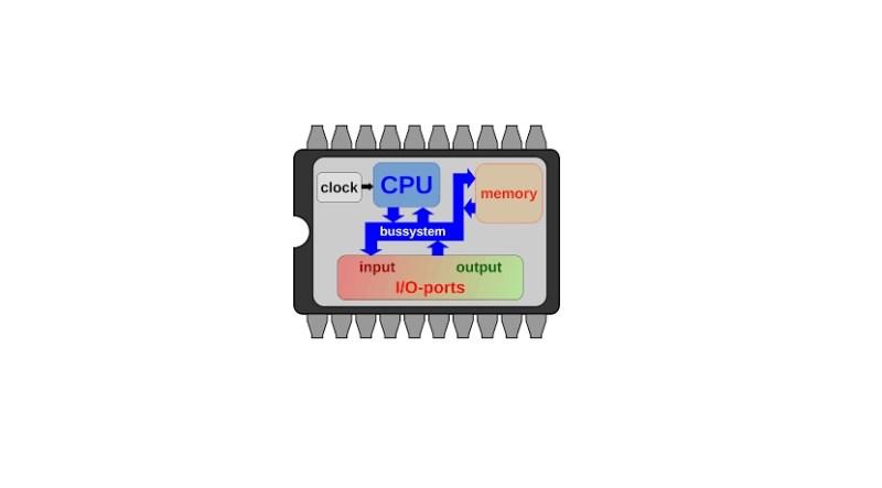Diagrama de microcontrolador