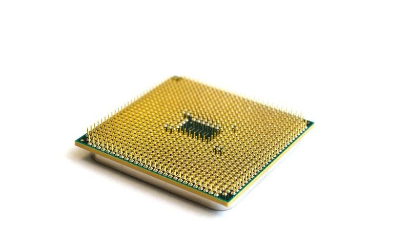 microprocesador de AMD boca abajo