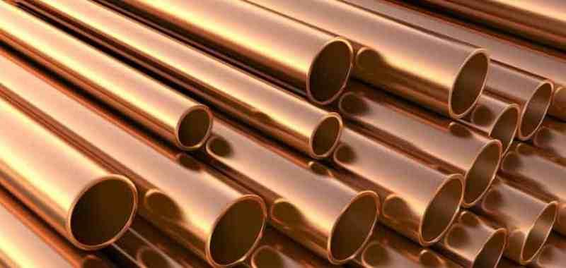 tuberías conductoras de cobre