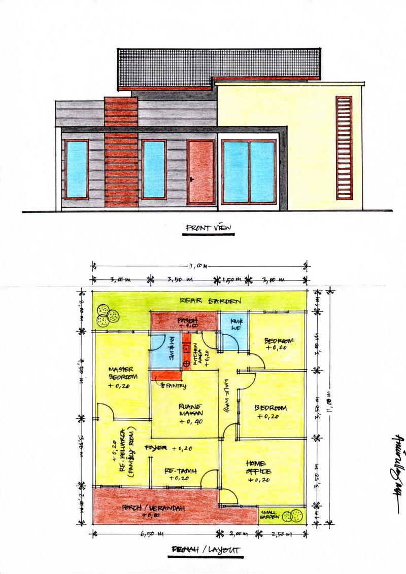 Contoh Desain Rumah Minimalis Type 27 Rumah Minimalisbl0g