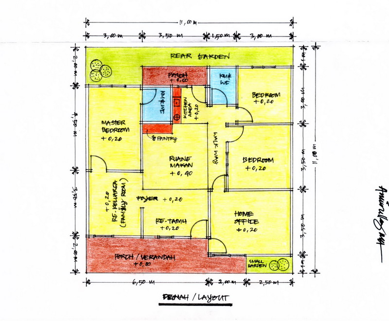 Gambar 2 – Denah/Layout Bangunan (Klik Pada Gambar Untuk Memperbesar