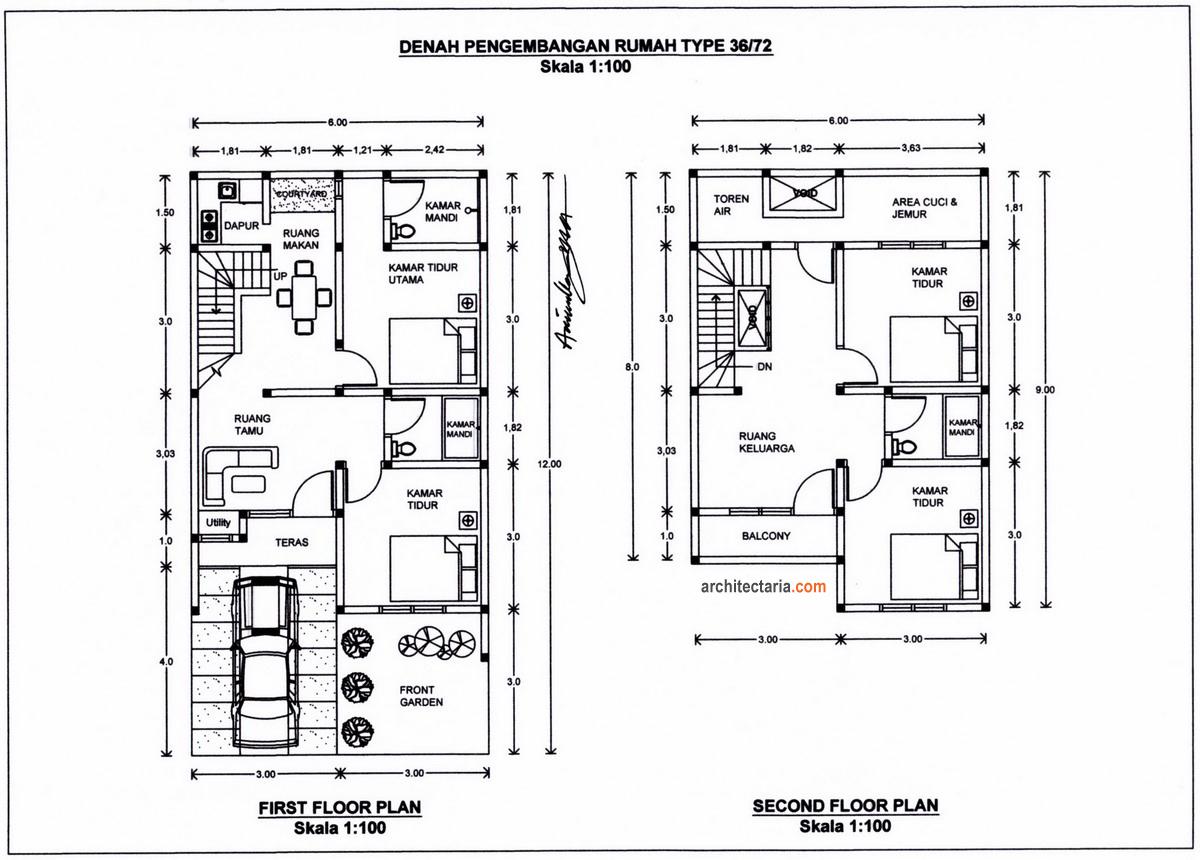 Rumah Minimalis 2 Lantai Luas Tanah 120 M2 Rumah Micromalis