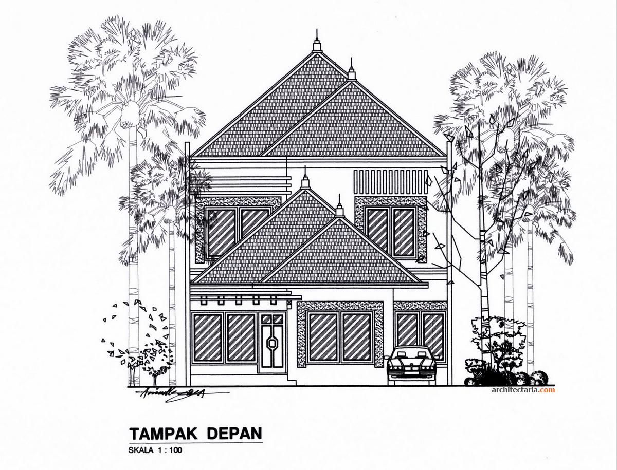 Desain Rumah Bergaya Modern Eklektik Pt Architectaria Media Cipta