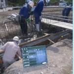 コンクリート打設時に使用する「コンクリートバイブレーター」