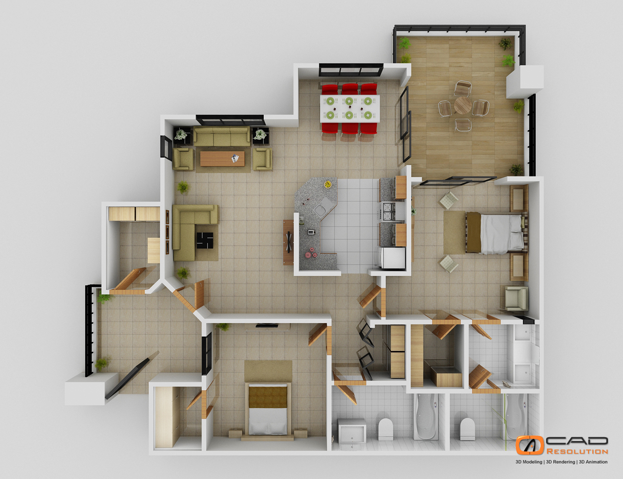 Architectural 3D Floor Plans and 3D House Design Help Architects to     Floor Plans  2