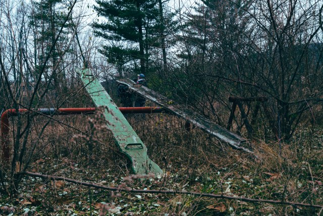 Abandoned teeter totter