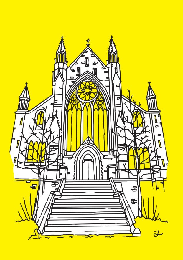 PA1 Worcester Cathedral Aspect III (Yellow, White & Black)